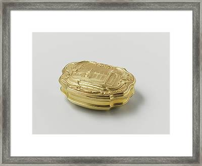 Snuff Box Of Gold, Adorned With Driven Representation Framed Print by Quint Lox