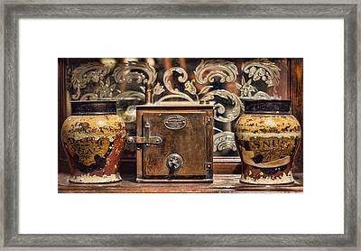 Snuff Jars Framed Print by Heather Applegate