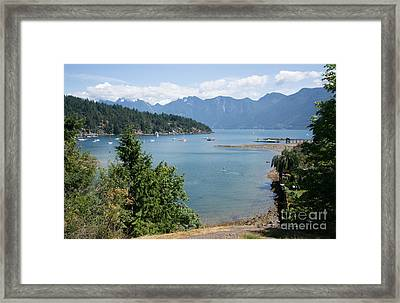 Snug Cove  Framed Print