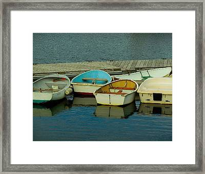 Snuggle Boats Framed Print
