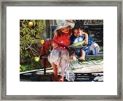 Snuggled Framed Print by Maureen Dean