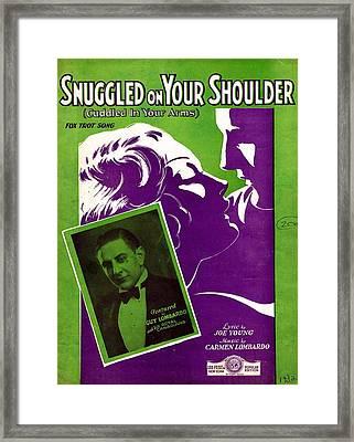 Snuggled On Your Shoulder Framed Print by Mel Thompson