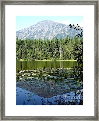 Framed Print featuring the photograph Snyder Lake Reflection by Kerri Mortenson