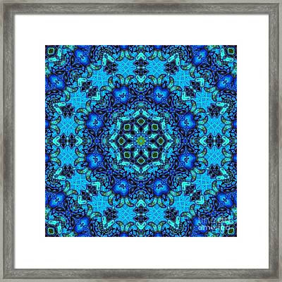 So Blue - 33 - Mandala Framed Print