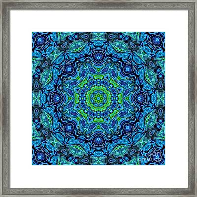 So Blue - 43 - Mandala Framed Print