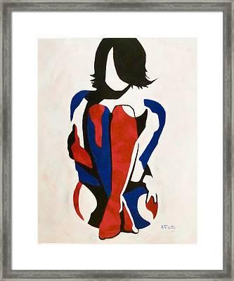 So Cold Framed Print by Rute Santos