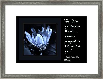 So I Love You Framed Print by Barbara St Jean
