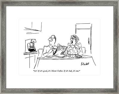 So!  If It's Good Framed Print by Frank Modell
