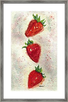 So Juicy Framed Print by Angela Davies