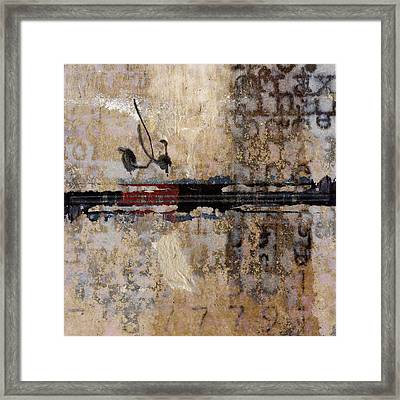 So Linear Square Framed Print by Carol Leigh
