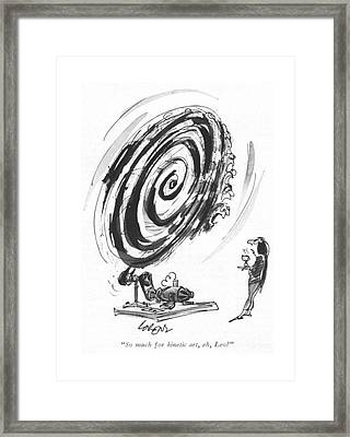 So Much For Kinetic Art Framed Print by Lee Lorenz