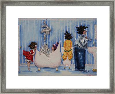 So Much For Mummy's Quiet Time Framed Print by Alison  Galvan