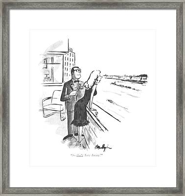 So That's New Jersey! Framed Print by James Mulligan