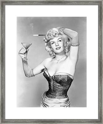 So This Is Paris, Corinne Calvet, 1955 Framed Print