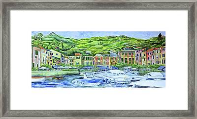So This Is Portofino Framed Print