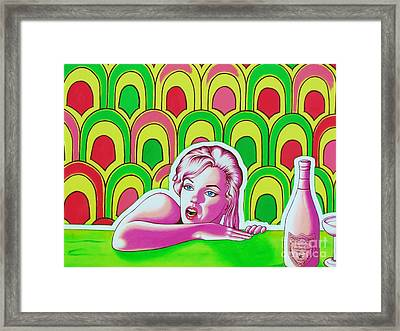 Soaked In Pucci Detail Framed Print by Joseph Sonday