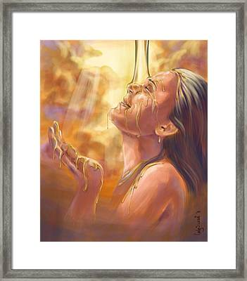 Soaking In Glory Framed Print by Tamer and Cindy Elsharouni