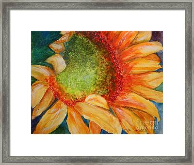 Soaking Up The Sun Framed Print by Terri Maddin-Miller