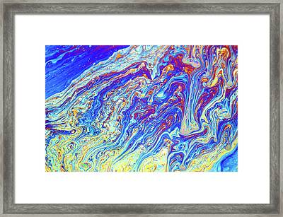 Soap Bubble Iridescence Framed Print by Daniel Sambraus