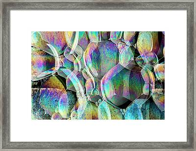 Soap Bubble Iridescence Framed Print by Kym Cox