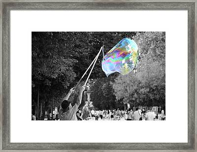 Soap Bubbles  Mix Framed Print