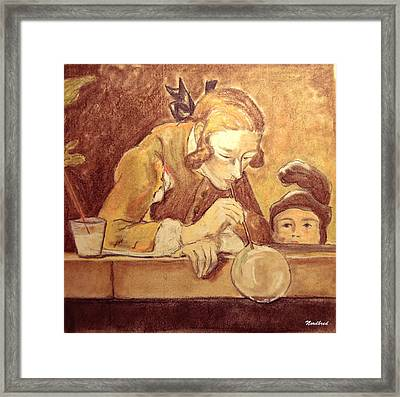 Soap Bubbles Framed Print by Tine Nordbred