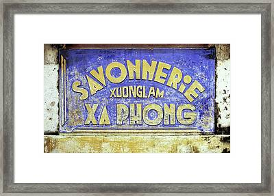 Soap Factory Sign Framed Print