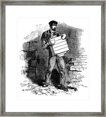 Soap Factory Worker Framed Print