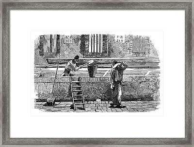Soap Factory Workers Framed Print