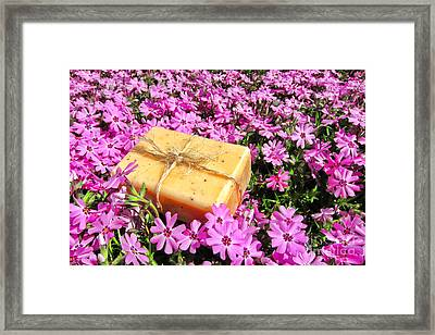Soap On Flowers Framed Print by Olivier Le Queinec