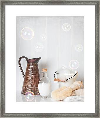 Soap Suds Framed Print by Amanda Elwell