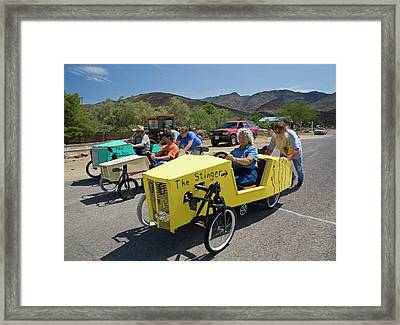 Soapbox Derby Framed Print by Jim West