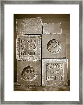 Soaps Framed Print by Frank Tschakert