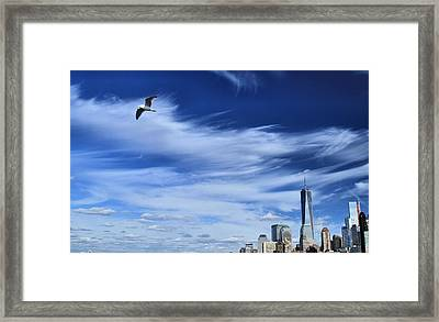 Soar Over New York City Framed Print by Dan Sproul