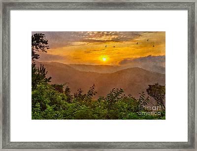 Soaring At Sunrise - Blue Ridge Parkway II Framed Print by Dan Carmichael