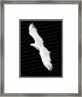Soaring - Isaiah Forty Framed Print by Cliff Hawley