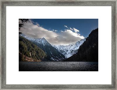 Soaring Mountain Lake Framed Print by Mike Reid