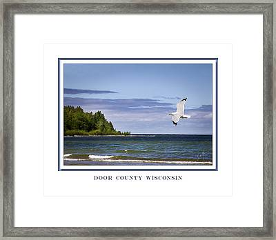 Framed Print featuring the photograph Soaring Over Door County by Barbara Smith