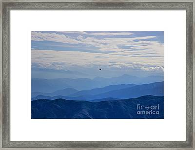 Soaring Over The Misty Andes Framed Print by Al Bourassa