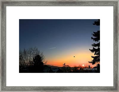 Soaring Sunrise 2 Framed Print by Jay Nodianos