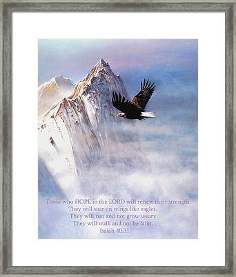 Soaring Wings Framed Print