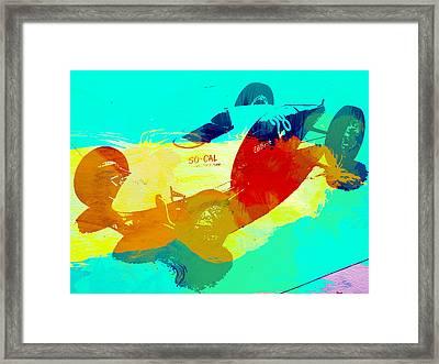 Socal Framed Print by Naxart Studio