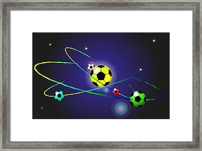 Soccer Ball Framed Print by Volodymyr Horbovyy