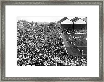 Soccer Crowd At Highbury Framed Print by Underwood Archives