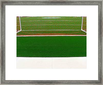 Soccer Net Framed Print