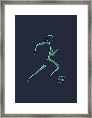 Soccer Player1 Framed Print by Joe Hamilton
