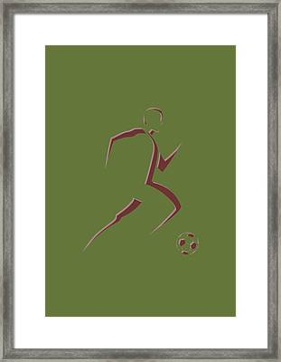Soccer Player10 Framed Print by Joe Hamilton