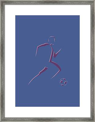 Soccer Player2 Framed Print by Joe Hamilton
