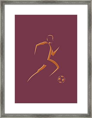 Soccer Player4 Framed Print by Joe Hamilton