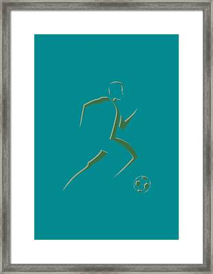 Soccer Player7 Framed Print by Joe Hamilton